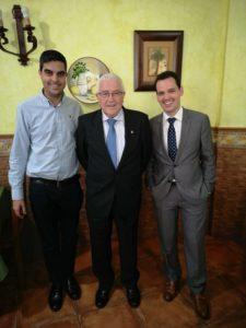 Con D. Abel Moreno y D. José Joaquín Trenado